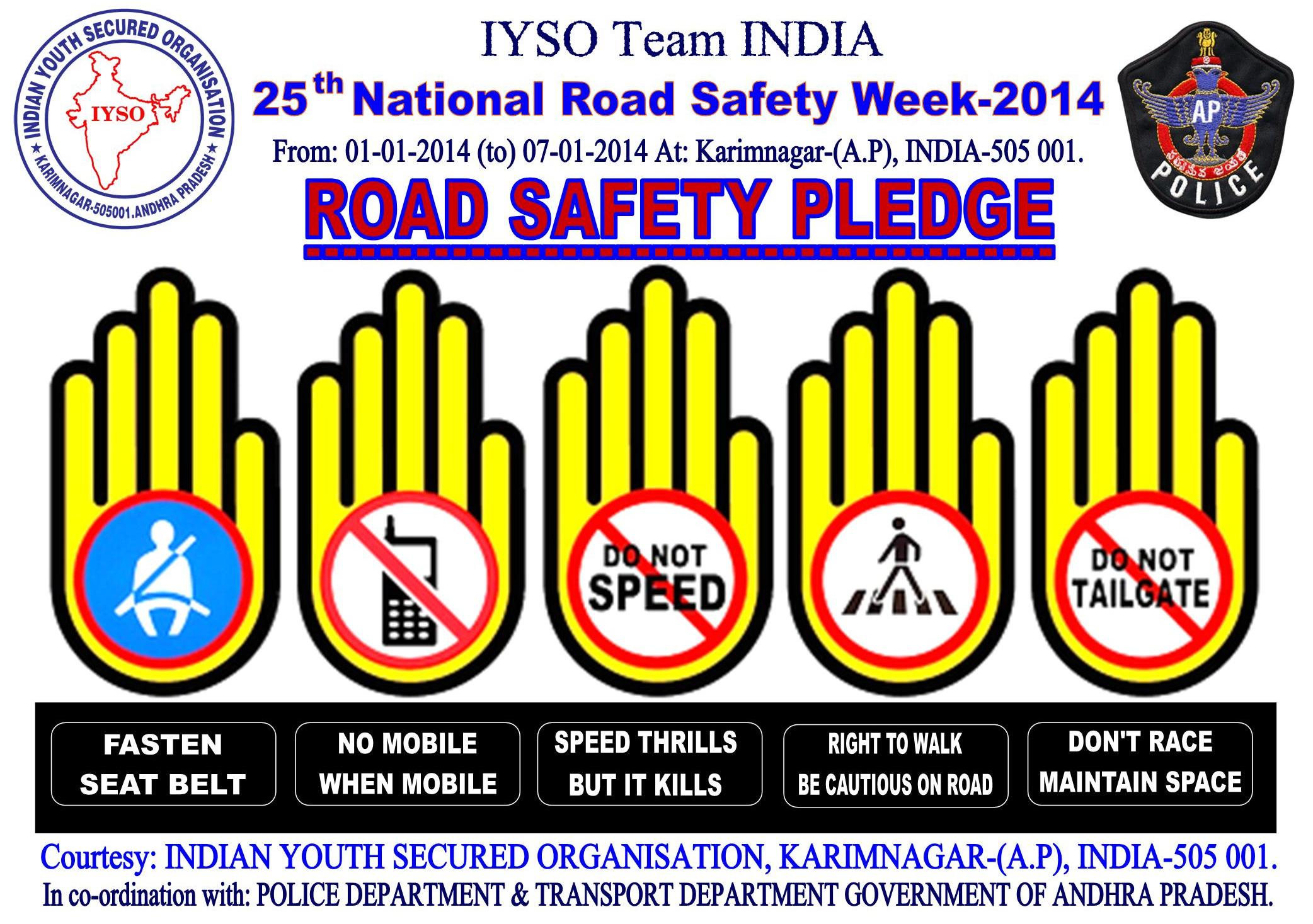 25th National Road Safety Week-2014 From: 01.01.2014 (to) 07.01.2014 ...
